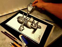 3D Drawing - Fantasy and reality by NAGAIHIDEYUKI