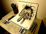 3D Drawing - Tyrannosaurus rex