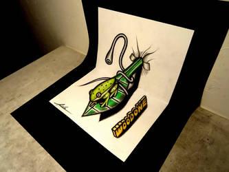 3D Drawing on the sketchbook - Frog by NAGAIHIDEYUKI