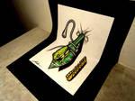 3D Drawing on the sketchbook - Frog
