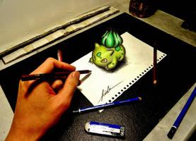 3D Drawing - POKEMON/Fushigidane