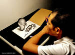 3D Drawing - Cute monster and mouse