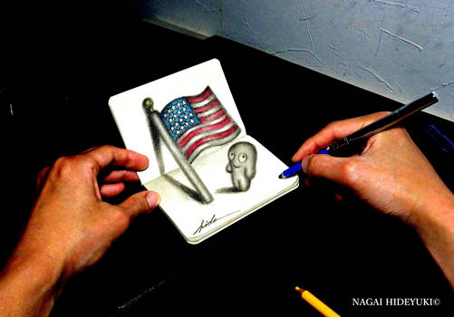 3D Drawing - Flag of the United States