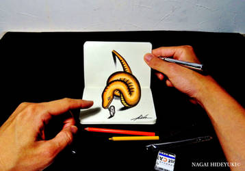3D Drawing - Orange snake