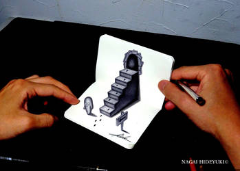 3D Drawing - Stairs popping out of notepad