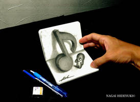 3D Drawing - Eighth note