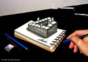 3D Drawing - Penrose stairs