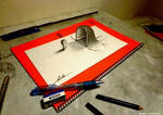 3D Drawing - The entrance that pops out