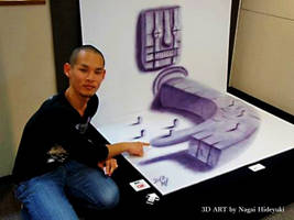3D Drawing - Big fingers popping out