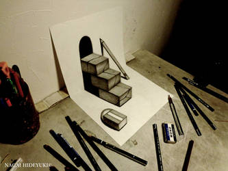 3D Drawing - Strange stairs popping out