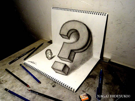 3D Drawing - Question mark that pops out