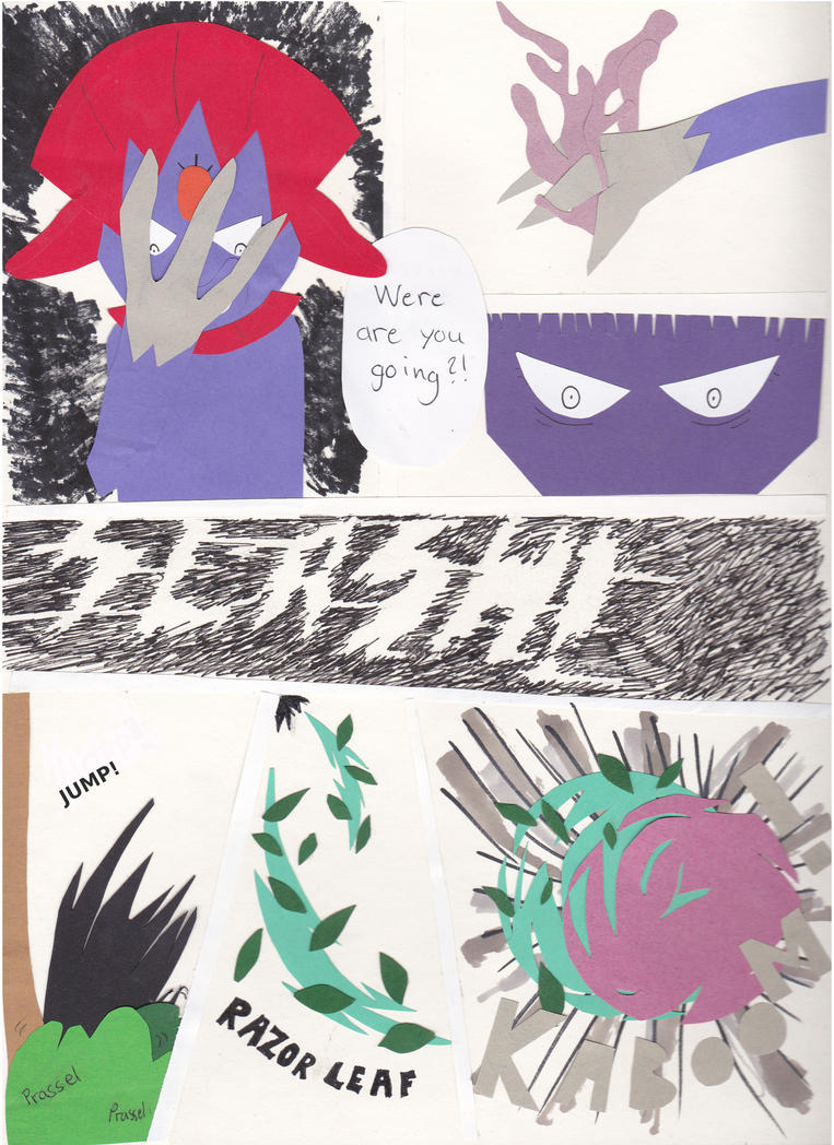 Pokemon paper adventure page 2 - read left-right by Arci-zhadoow