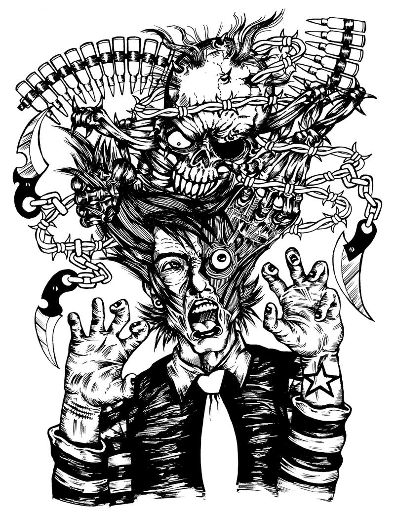 Design t shirt art -  Mass Hypnosia T Shirt Design By Kronik1973