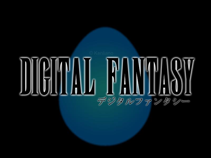 Digital Fantasy (Digimon x Final Fantasy) logo by Kenliano