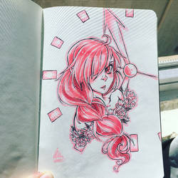 Flower girl- one marker challenge  by sparticus2000