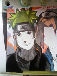 Naruto and Sakura (Different Style)
