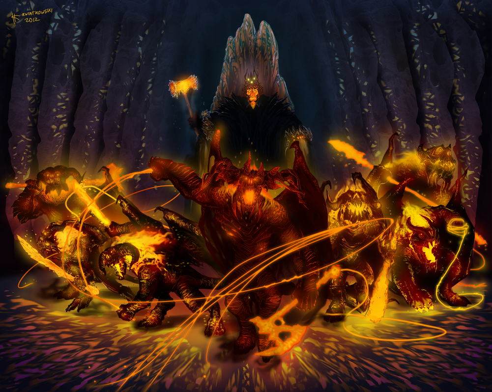 The Balrogs of Morgoth by Thylacinee