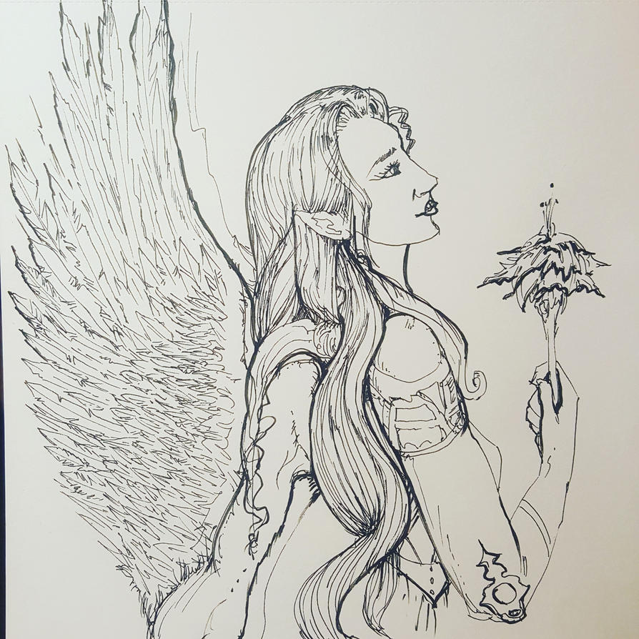 Angel with Flower by Pardilate