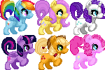 FREE MY LITTLE PONY FIM ICONS by Lytschi