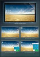 Tablet UI Concept - LockScreen by primitiveart-87