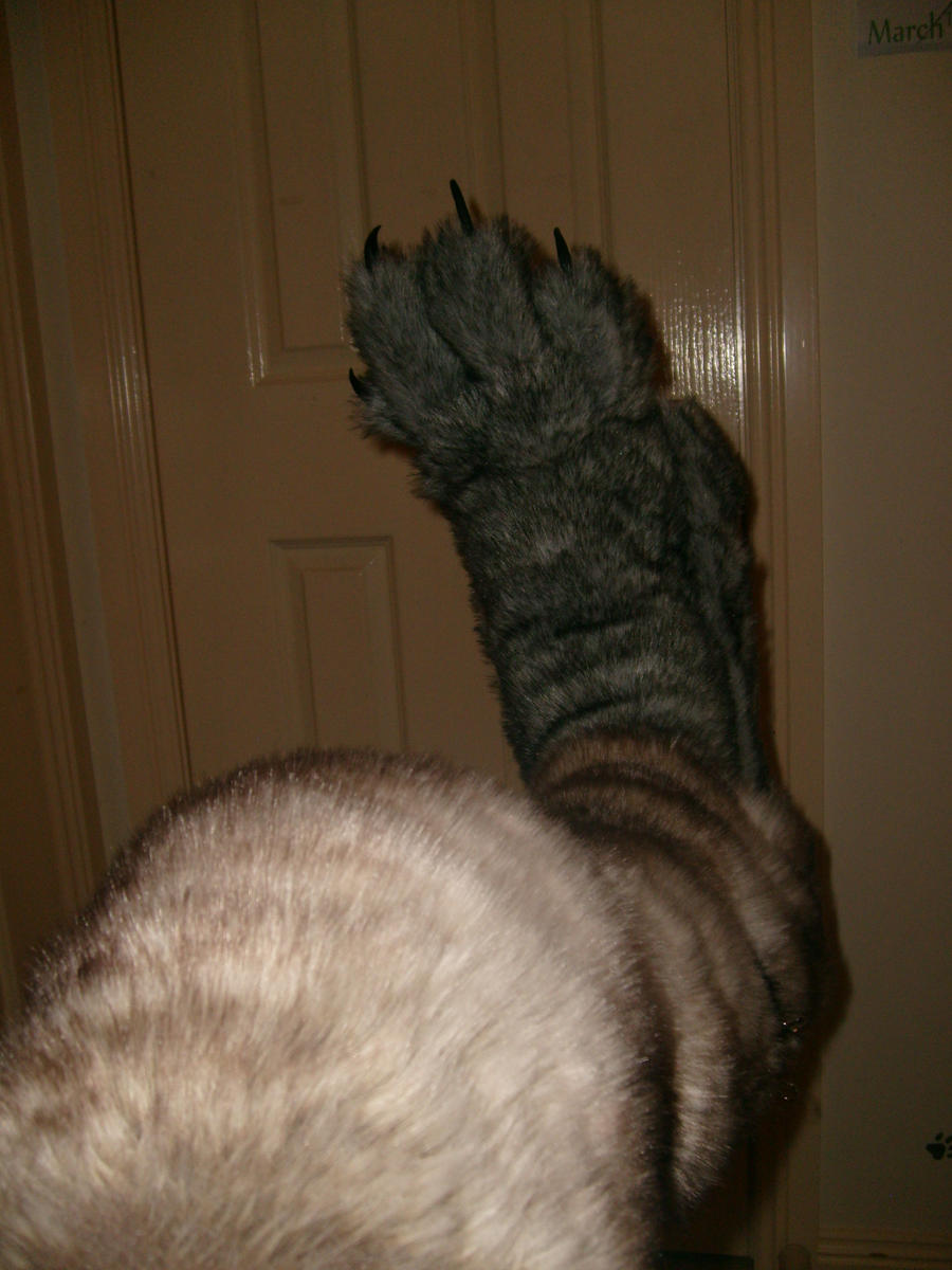 werewolf leg (Digitigrade stilts ) by wolf-child1995