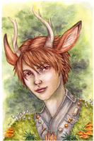 Deer Boy Watercolor small by ElvenhamIllustration