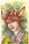 Deer Boy Watercolor small