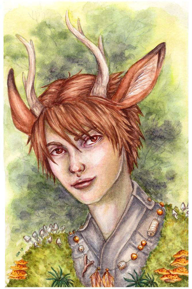 Deer Boy Watercolor small by ElvenhamIllustration