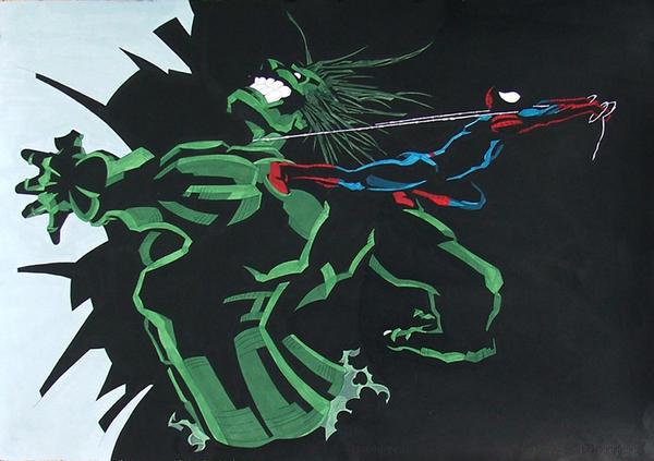 Hulk and Spiderman by brrkovi