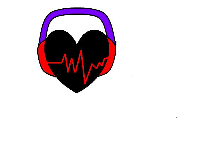 Heart With Headphones by fairyqueen1999