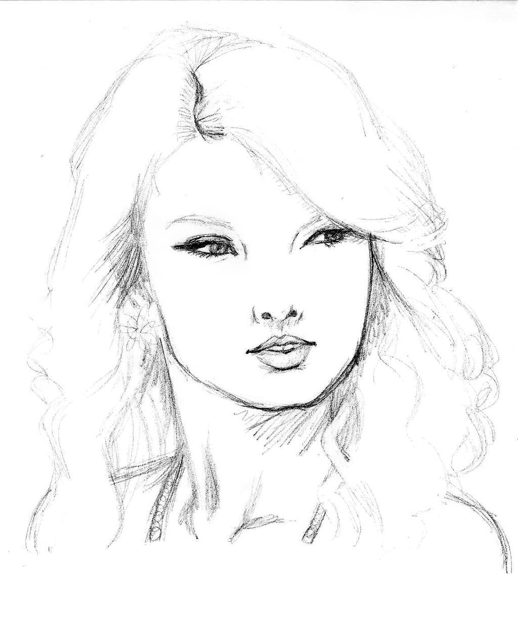 Taylor Swift Sketch By Dariosuper On Deviantart