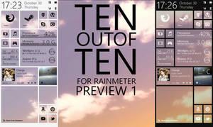 TENoutofTEN for Rainmeter - Preview 1