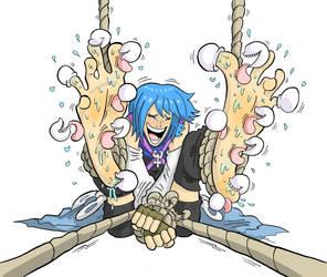 Aqua tickled (Commission)