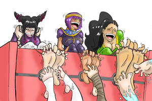 SF Girls tickled by feet ( Commission)