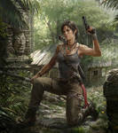 Lara in the forest