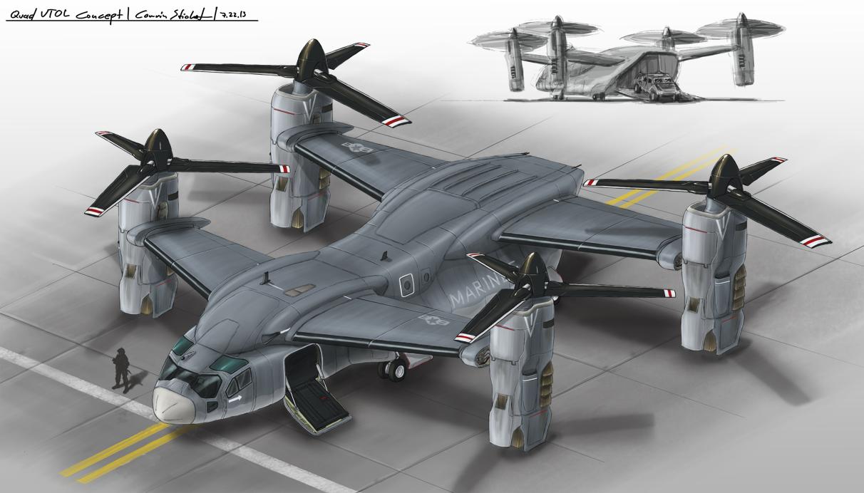 Quad vtol concept by ferain on deviantart for Design attack
