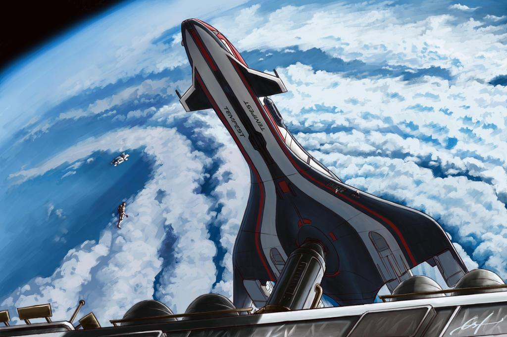 ME Andromeda: Tempest Orbital Dock by Ferain