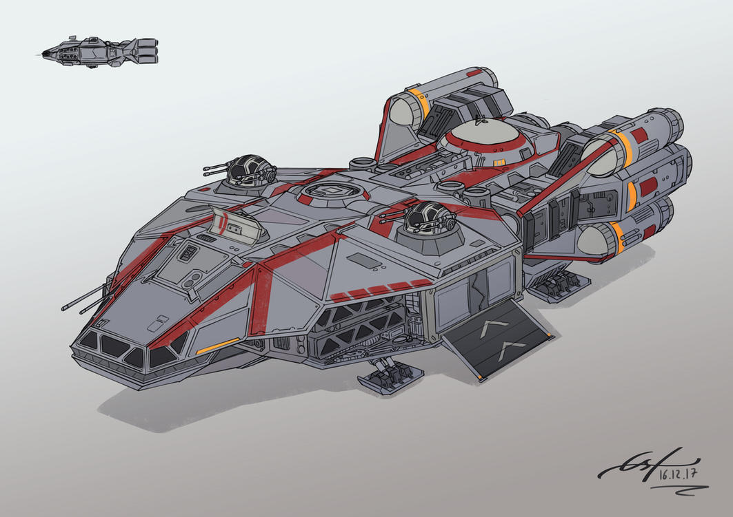 Star Wars Ship Design by Ferain