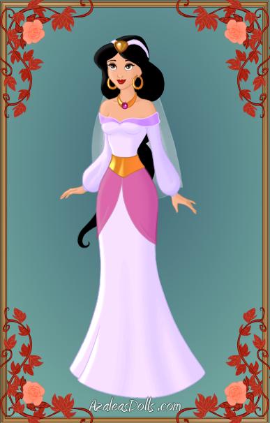 Princess jasmine 39 s wedding dress by unicornsmile on deviantart for Jasmine wedding dress disney