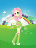 Equestria girls Fluttershy by unicornsmile
