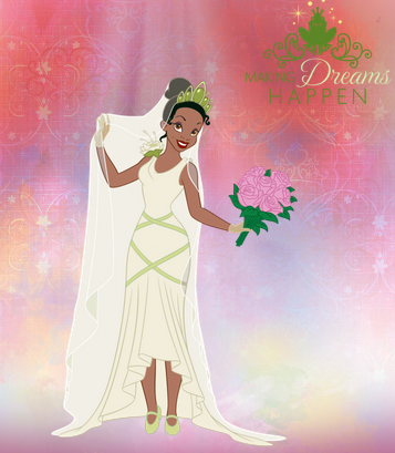 Princess tiana 39 s wedding dress by unicornsmile on deviantart for Princess tiana wedding dress