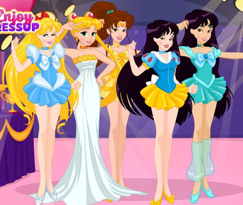 Disney Sailor Moon Princesses By Unicornsmile On Deviantart