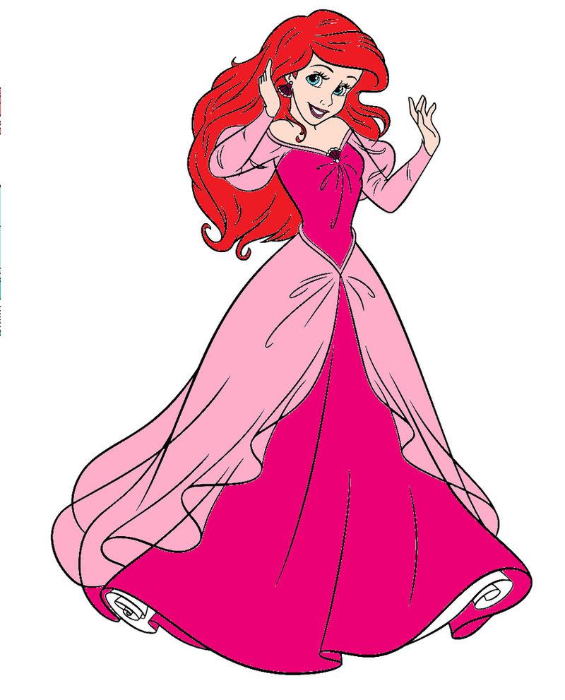 Princess Ariel S Pink Dress By Unicornsmile On Deviantart