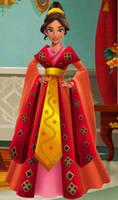 Elena's Chinese dress