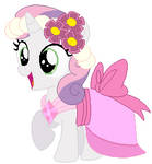 Sweetie belle's wedding attendance gown