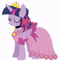 Princess twilight's wedding attendance gown by unicornsmile