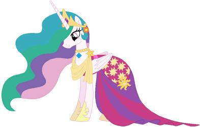 Princess celestia's wedding attendance gown 02 by unicornsmile