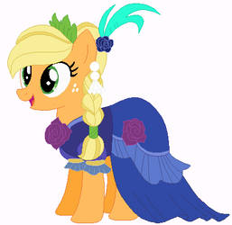 Applejack's wedding gown 10 by unicornsmile