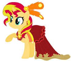 Sunset shimmer's wedding attendance gown by unicornsmile