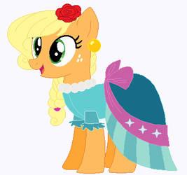Applejack's wedding attendance gown 04 by unicornsmile